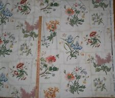 "Jardin Catalouge Schuymacher Screen Print Floral Patchwork Fabric 54"" 2 yds OOP"
