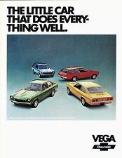 1973 Chevrolet Vega Hatchback Notchback Kammback Dealer Sales Brochure