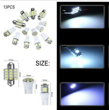 13x White LED Xenon Light Interior Package T10 & 31mm License Plate Auto Car New