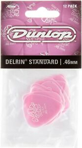 PACK OF 12 DUNLOP DELRIN STANDARD PLECTRUMS PICKS .46mm Free Shipping UK