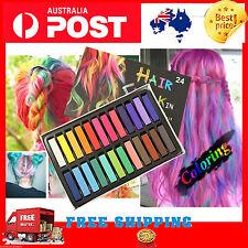 Aussie 24 Colors Non-toxic Temporary Hair Chalk Dye Soft Pastels Salon Kit AU