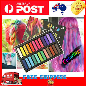 24 Colors Hair Chalk DIY Colouring Temporary Pastel Salon hair extension 2020 au