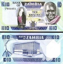 ZAMBIA - 10 kwacha 1988 FDS - UNC