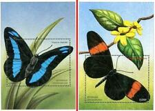 CENTRAL AFRICA 2001 BUTTERFLIES 2 S/S MNH CV$14.00 INSECTS