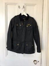 Ladies Barbour Speedway Jacket Black Size UK8