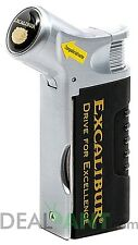 EXCALIBUR THE GOLF TOOL TRIPLE FLAME ADJUSTABLE REFILLABLE CIGAR TORCH LIGHTER