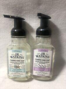 2x JR Watkins Foaming Hand Soap - Ocean Breeze And Lavender 9 fl oz each