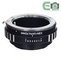 AF-NEX Adapter for Sony Minolta AF MA Mount Lens to Sony A7R A7M2 A6100 NEX-6