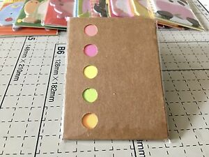 Repositionable Paper Sticky Memo Note Bookmark Marker Index Tabs Flags Free P&P