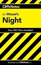 CliffsNotes on Wiesel's Night by Cliffs Notes Staff and Maryam Riess (1996,...