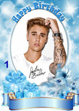 FREE P/P JUSTIN BIEBER Card (selection) YOUR WORDS   Personalised - A5