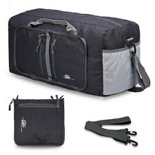 """NEW 55"""" Black Foldable Travel Duffle Tote Bag- Gym Carry On Womens Mens Luggage"""