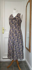 """JACQUES VERT SLEEVELESS COWL NECK PARTY CRUISE BALL DRESS SIZE 12 BUST 42"""""""