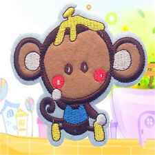 Monkey Iron on Sew on Fully Embroidered Patch DIY Deco Applique Motif Badge Bag