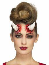 SMI - Dämon Teufel Hörner mit Klebemittel Halloween Kostüm Zubehöhr