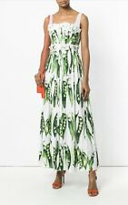 DOLCE & GABBANA PEA DRESS- RRP £1400 UK 6 -IT 38 DRESS- GOWN D & G-NWT RUNWAY