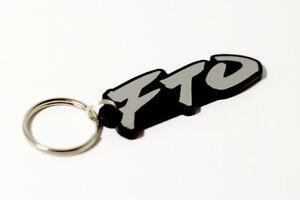 Mitsubishi FTO Keyring - Brushed Chrome Effect Classic Car Keytag / Keyfob
