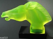 Glasskulptur Pferd/ Horse  Uranglas /Uraniumglass/ Vaseline