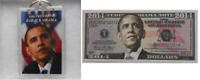 "President Obama 2014  Commemorative Bill  & Gift Boxed ""44th President"" Keychain"