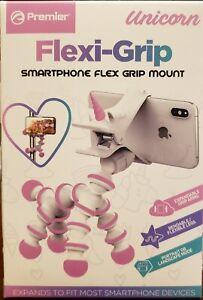 Premier Flexi-Grip Mount For Smartphones, TriPod QuadPod Unicorn, New Pink/White