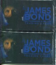 James Bond Autographs & Relics Lot Of 20 Factory Sealed Trading Card Hobby Packs