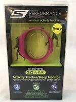 Skechers GO Walk Activity Tracker Sleep Monitor Pink Cranberry Fitness New Year