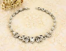 Vintage Rhinestone Applique Trim Crystal Trimming Sew On Wedding Trim 39*2cm