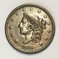 1838 Large Cent - High Quality Scans #F543