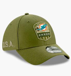 "New Era NFL Miami Dolphins ""SALUTE TO SERVICE"" 39THIRTY Hat Sz Medium-Large NEW."