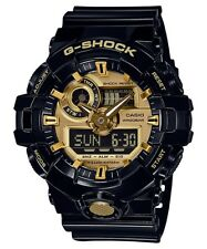 Casio G-Shock Analogue/Digital Mens Black/Gold Watch GA710GB-1A GA-710GB-1A