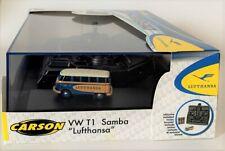 Auto RC 1 87 Carson Modellsport VW Bus T1 Samba Lufthansa 500504134 Électrique