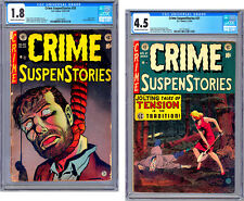 CRIME SUSPENSTORIES #20-21 CGC HISTORIC PRE-CCA CENSURE *USED IN SOTI* 1953-54