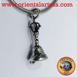 Anhänger Glocke Oder Gantha Tibetan aus Silber 925‰