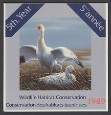 FWH5 1989 SNOW GEESE BY JEAN-LUC GRONDIN, FEDERAL WILDLIFE CONSERVATION & STAMP