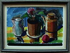 Bror Göransson 1915-1971, forte de couleur Nature morte, À 1950