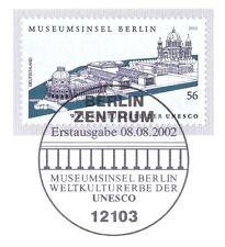 BRD 2002: Museumsinsel Berlin Nr 2274 mit Berliner Ersttagssonderstempel 1A 1810