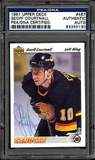 1991 92 UD 467 GEOFF COURTNALL NM PSA DNA AUTOGRAPH AUTO SIGN  VANCOUVER CANUCKS