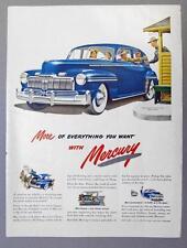 Original 1946 Mercury 4 Door Sedan Ad A VACTION ON WHEELS IN MORE BEAUTY