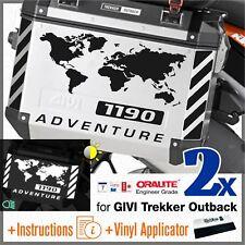 8x Rifrangenti ADESIVI Nero compatibile con KTM 1190 ADV GIVI TREKKER OUTBACK