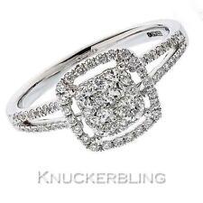 18 Carat Engagement Halo White Gold Fine Diamond Rings