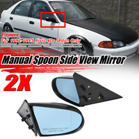 For 1992-1995 Civic 4Dr Sedan Manual Adjustable Spoon Style Side View