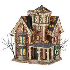 Dept 56 Halloween Snow Village Ghastly's Haunted Villa 4051007 Lighted Building