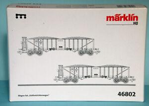 Marklin 46802 HO 1/87 scale K.Bay.Sts.Bahn 2 Coal hopper wagons Era 1