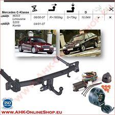 AHK ES7 Mercedes C-Klasse W203 S203 2002-07 Anhängevorrichtung Anhängerkupplung