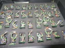 Games Workshop Warhammer Orcs and Goblins  Painted Regiment Army GW 82 Figures