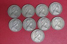 Lot of 9 Australia Australian  20 cents 1968 (MG91/C2)