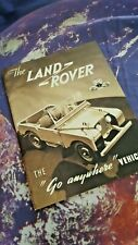 Land Rover Series 1 1952 - Reprint Brochure - 17 Pgs