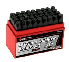 "WILMAR TOOLS 36 PIECE 1/4"" LETTER AND NUMBER STAMPS PERFORMANCE TOOL W5422"