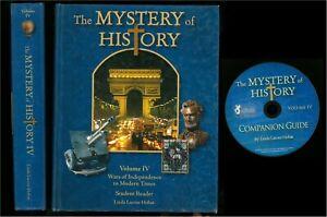Linda Hobar MYSTERY OF HISTORY IV Reader + CD, 2014 HC Homeschool CLEAN