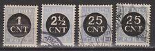 Port nr. 61 62 63 64 gestempeld used NVPH Netherlands Nederland due portzegel
